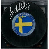 Linus Ullmark Autographed Buffalo Sabres Sweden Hockey Puck