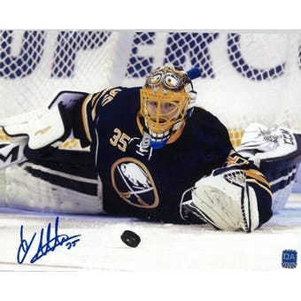 Linus Ullmark Autographed Buffalo Sabres Diving 8x10