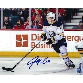 Jake McCabe Autographed Buffalo Sabres White Jersey 8x10