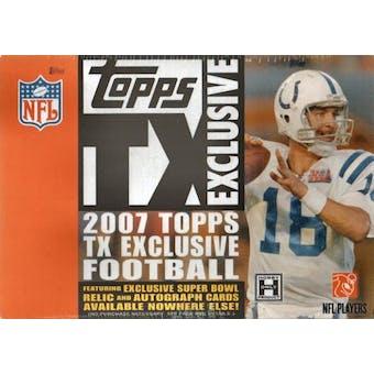 2007 Topps TX Exclusive Football Hobby Box
