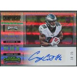 2017 Panini Contenders #262 Corey Clement Championship Ticket Rookie Auto #18/25