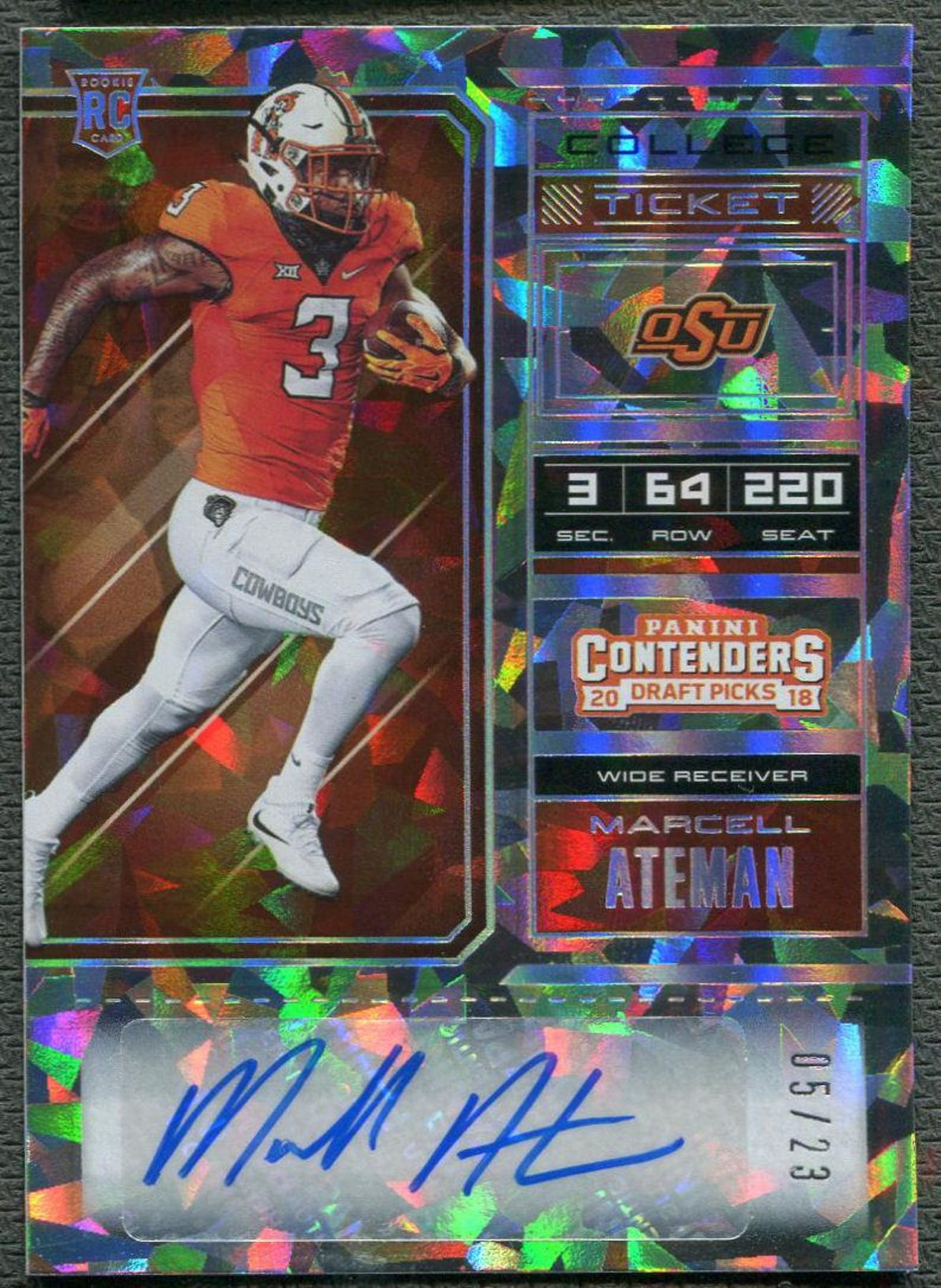 low priced 1a3d8 04006 2018 Panini Contenders Draft Picks #148 Marcell Ateman Cracked Ice Rookie  Auto #05/23