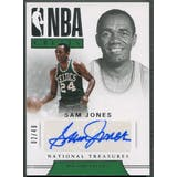 2017/18 Panini National Treasures #15 Sam Jones NBA Greats Auto #02/49