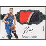 2016/17 Panini Flawless #37 Domantas Sabonis Horizontal Rookie Patch Auto #09/25