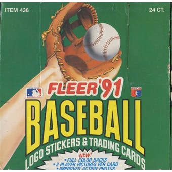 1991 Fleer Baseball Jumbo Box