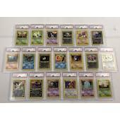 Pokemon Neo Discovery 1st Edition Complete Non-Holo Rare Set 10 PSA 9's and 9 PSA 10's