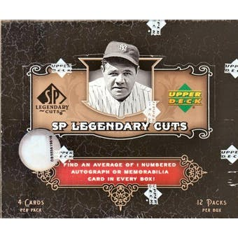 2007 Upper Deck SP Legendary Cuts Baseball Hobby Box