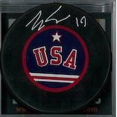 Eric Strobel Autographed USA Hockey Miracle On Ice Puck (DACW COA)