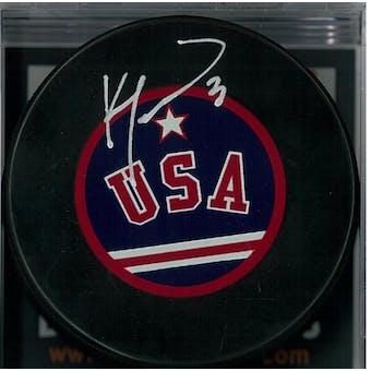 "Ken Morrow ""Miracle on Ice"" Autographed USA Hockey Puck (DACW COA)"