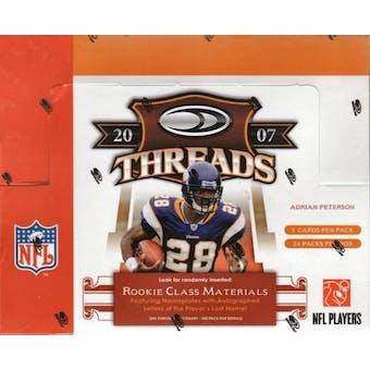 2007 Donruss Threads Football Hobby Box