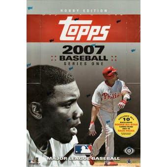 2007 Topps Series 1 Baseball Hobby Rack Box