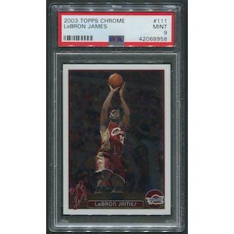 2003/04 Topps Chrome Basketball #111 LeBron James Rookie PSA 9 (MINT)