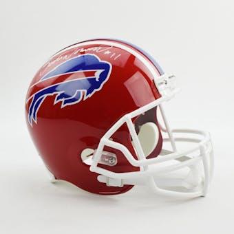 Scott Norwood Autographed Buffalo Bills Full Size Football Helmet (Altman COA)
