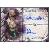 2018 Topps WWE Undisputed #DAGA Karl Anderson & Luke Gallows Purple Dual Auto #3/5