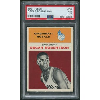 1961/62 Fleer Basketball #36 Oscar Robertson Rookie PSA 7 (NM)