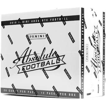 2018 Panini Absolute Football Jumbo Fat Pack Box