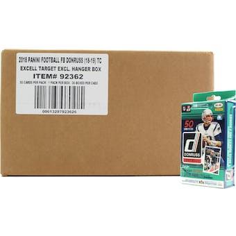 2018 Panini Donruss Football Hanger Box 36ct Case (Green)