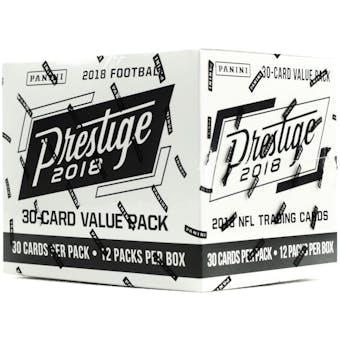 2018 Panini Prestige Football 12-Pack Jumbo Box