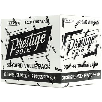 2018 Panini Prestige Football 12-Pack Jumbo Box