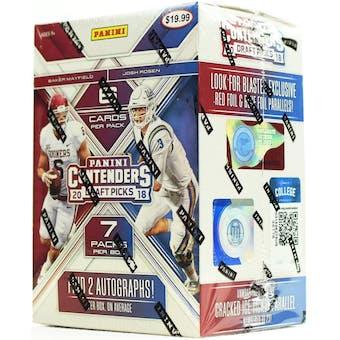 2018 Panini Contenders Draft Football 7-Pack Blaster Box