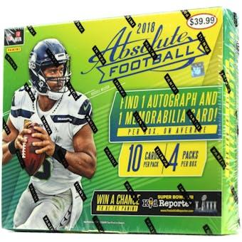 2018 Panini Absolute Football 4-Pack Ultra Box