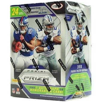2018 Panini Prizm Football 6-pack blaster 20-box Case- DACW Live 32 Spot Random Team Break #1