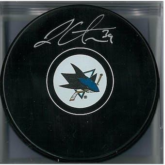 Logan Couture Autographed San Jose Sharks Hockey Puck (AJSW COA)