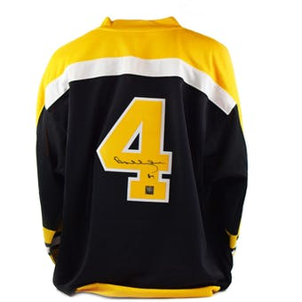 Bobby Orr Autographed Mitchell & Ness Boston Bruins Hockey Jersey (Great North Road COA)