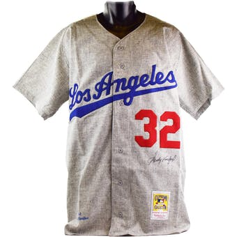 Sandy Koufax Autographed Los Angeles Dodgers Mitchell & Ness Jersey (Online Authentics)