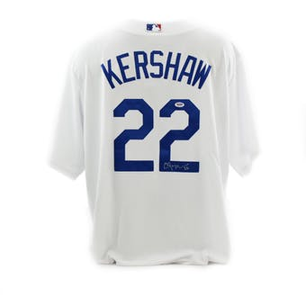 Clayton Kershaw Autographed Los Angeles Dodgers Majestic Baseball Jersey (PSA/DNA)