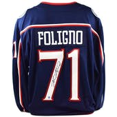 Nick Foligno Autographed Columbus Blue Jackets Fanatics Hockey Jersey (Dave & Adam's COA)