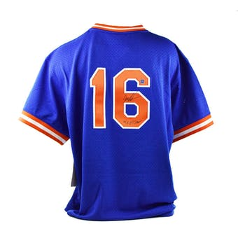 Dwight Gooden Autographed New York Mets Mitchell & Ness Baseball Jersey (Dave & Adam's COA)