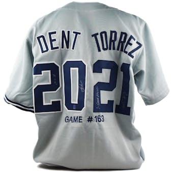 Bucky Dent & Mike Torrez Autographed Custom New York Yankees/Boston Red Sox Jersey (Dave & Adam's COA)