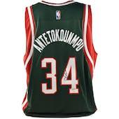 Giannis Antetokounmpo Autographed Milwaukee Bucks Adidas Basketball Jersey (Fanatics)