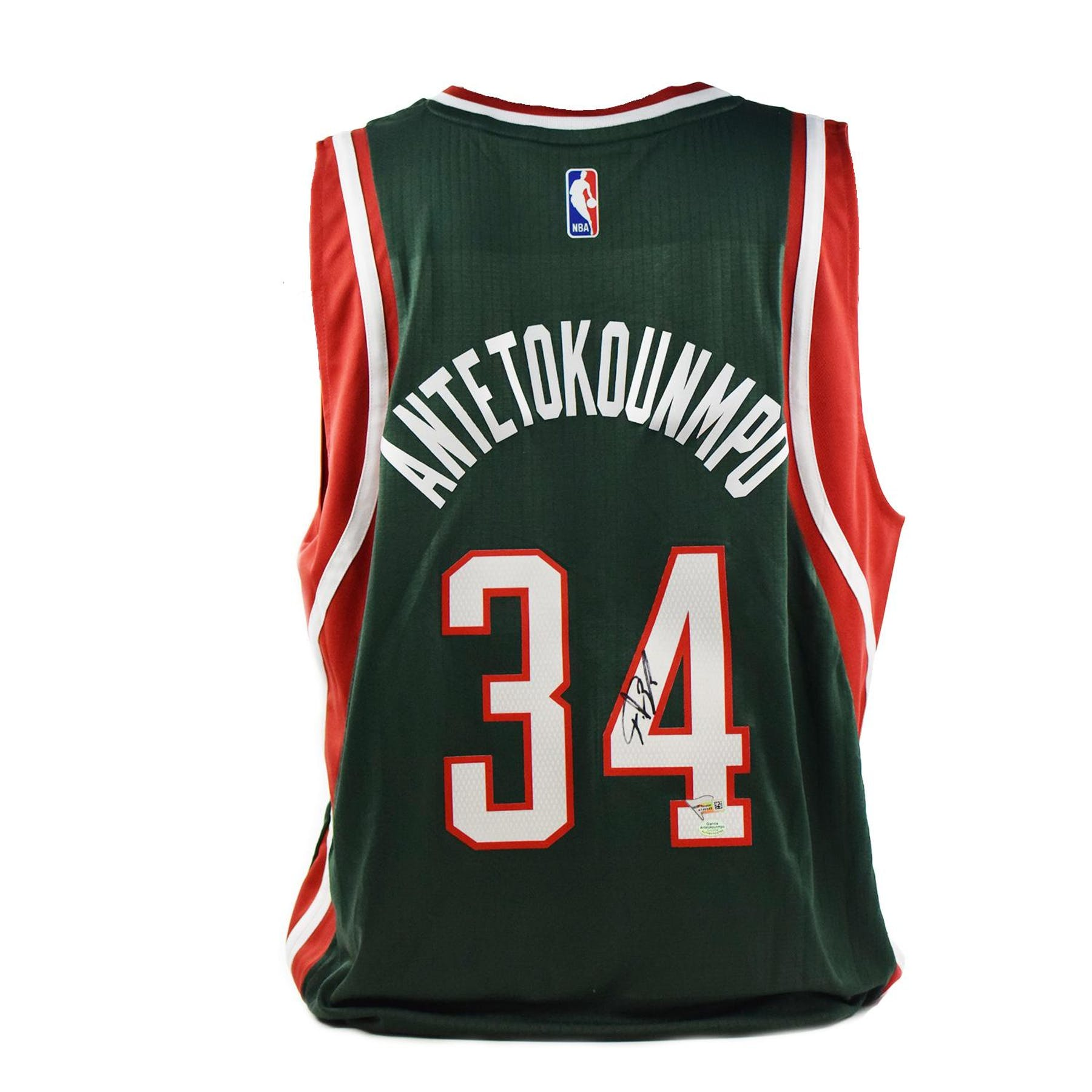 quality design 4d2ac fd8bb Giannis Antetokounmpo Autographed Milwaukee Bucks Adidas Basketball Jersey  (Fanatics)