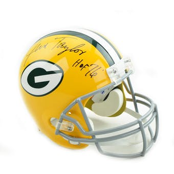 Jim Taylor Autographed Green Bay Packers Replica Full Size Football Helmet (Dave & Adam's COA)