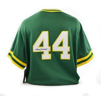 Reggie Jackson Autographed Oakland A's Mitchell & Ness Baseball Jersey (JSA)