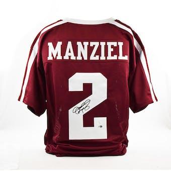 Johnny Manziel Autographed Texas A&M Aggies Football Jersey (JSA)