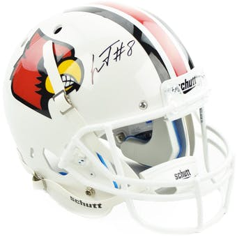 Lamar Jackson Autographed Louisville Replica Full Size Football Helmet (JSA)