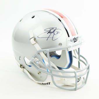 Eddie George Autographed Ohio State Buckeyes Full Size Replica Football Helmet (JSA)