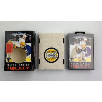 Sega Genesis Mario Lemieux Hockey BIG BOX with Puck Complete