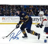 Tage Thompson Autographed Buffalo Sabres Blue Jersey 8x10