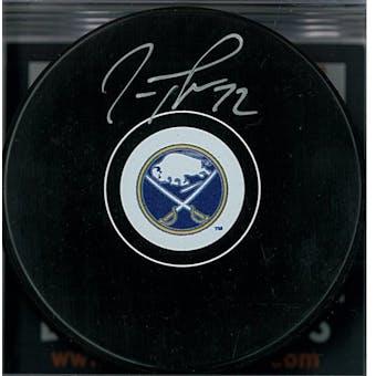 Tage Thompson Autographed Buffalo Sabres Hockey Puck