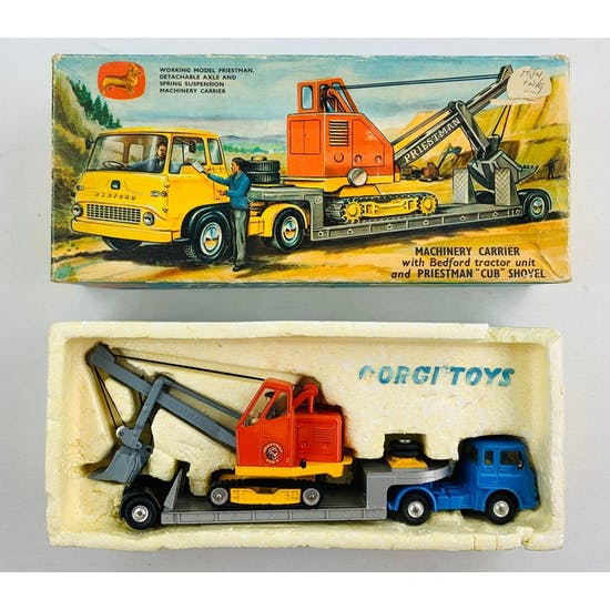 Corgi Gift Set 27 Bedford Tractor Unit Machinary Carrier & Priestman Shovel
