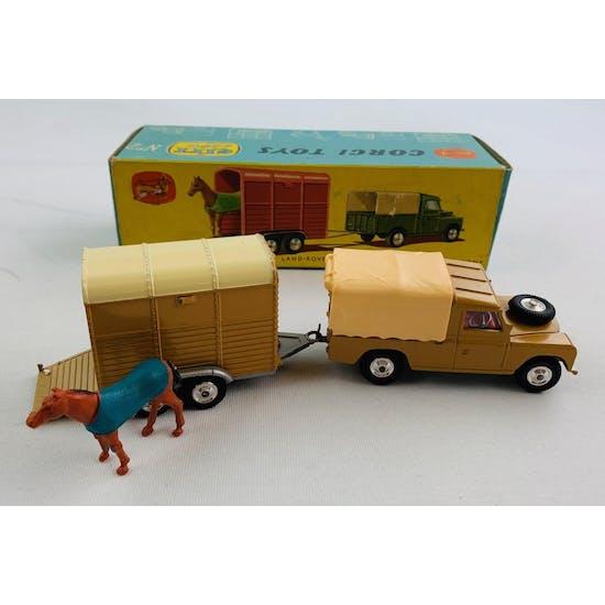 "Corgi Gift Set No.2 Land Rover With ""Rice's"" Pony Trailer And Pony"