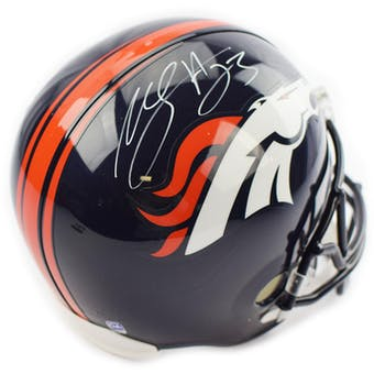 Willis McGahee Autographed Denver Broncos Full Size Replica Helmet