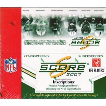 2007 Score Football Box