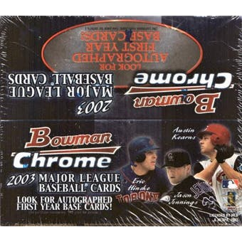 2003 Bowman Chrome Baseball 24 Pack Box