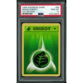 Pokemon Base Set 1st Edition Shadowless Grass Energy 99/102 PSA 10 GEM MINT