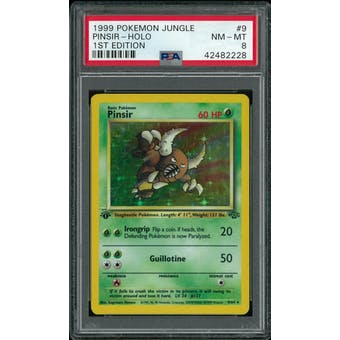 Pokemon Jungle 1st Edition Pinsir 9/64 PSA 8